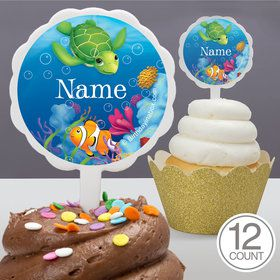 Ocean Party Personalized Cupcake Picks (12 Count)