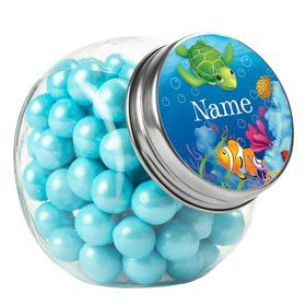 Ocean Party Personalized Plain Glass Jars (10 Count)
