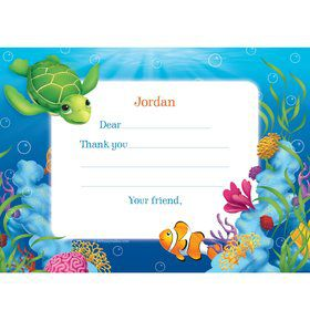 Ocean Party Personalized Thank You Note (each)