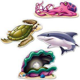 Ocean Party Wall Decoration (set of 4)