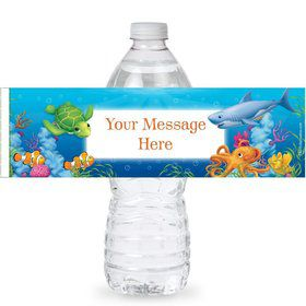 Ocean Personalized Bottle Labels (Sheet of 4)