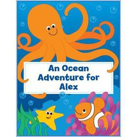 Ocean Personalized Coloring Book (each)