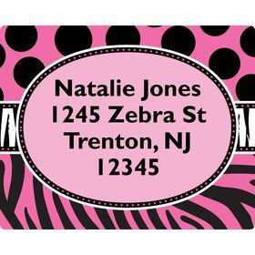 Oh So Fabulous Address Labels (Sheet Of 15)