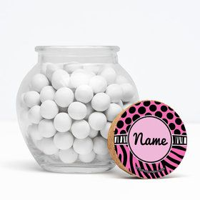 """Oh So Fabulous Personalized 3"""" Glass Sphere Jars (Set of 12)"""