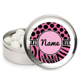 Oh So Fabulous Personalized Candy Tins (12 Pack)