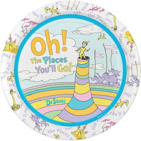 "Oh The Places You'll Go 9"" Plates"