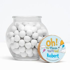 "Oh The Places You'll Go Personalized 3"" Glass Sphere Jars (Set of 12)"