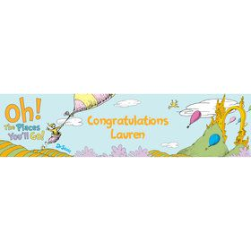 Oh The Places You'll Go Personalized Banner (Each)