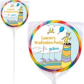 Oh The Places You'll Go Personalized Lollipops (12 Pack)