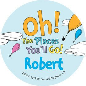 Oh The Places You'll Go Personalized Mini Stickers (Sheet of 24)