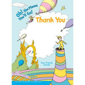 Oh The Places You'll Go Personalized Thank You (Each)