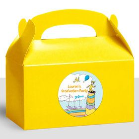Oh The Places You'll Go Personalized Treat Favor Boxes (12 Count)