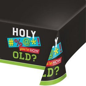 """Old Age Humor Plastic Tablecover 54"""" x 102"""" (1)"""