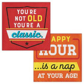 Old Age Humor You're a Classic Beverage Napkin (16)