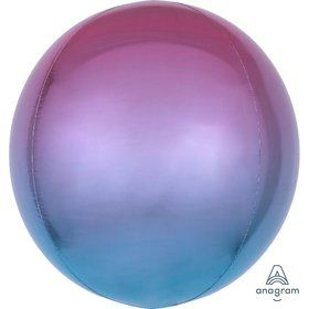 Ombre 16 Orbz Balloon - Purple/Blue