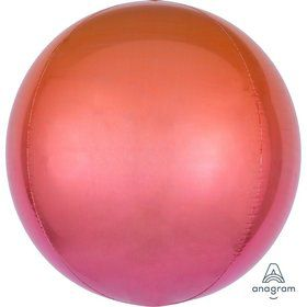Ombre 16 Orbz Balloon - Red/Orange