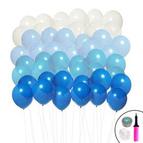 Ombre Balloon Kit (Blue White)