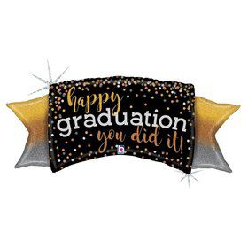 "Ombre Graduation 46"" Holographic Foil Balloon"