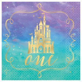 Once Upon A Time 1st Birthday Beverage Napkins (16)