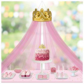 Once Upon A Time Crown Decoration and Tulle Canopy
