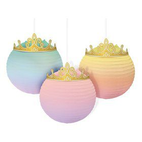 Once Upon A Time Crowned Hanging Paper Lanterns