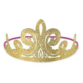 Once Upon A Time Glitter Paper Tiaras (8ct)