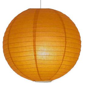 "Orange 10"" Paper Lantern Decorations (Each)"