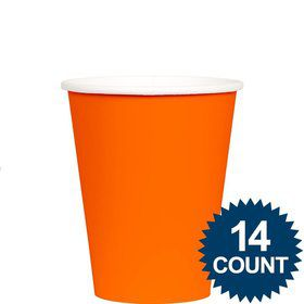 Orange 9oz Cups (14 Pack)