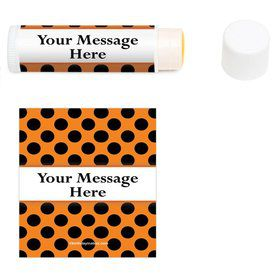 Orange and Black Dots Personalized Lip Balm (12 Pack)