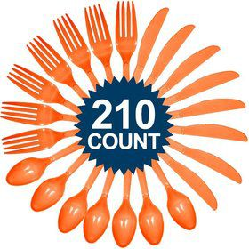 Orange Cutlery Set (210 Pack)