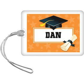 Orange Grad Personalized Bag Tag (Each)