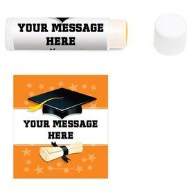 Orange Grad Personalized Lip Balm (12 Pack)