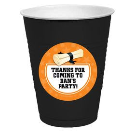 Orange Grad Personalized Party Cups (50)