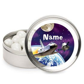Outer Space Personalized Candy Tins (12 Pack)