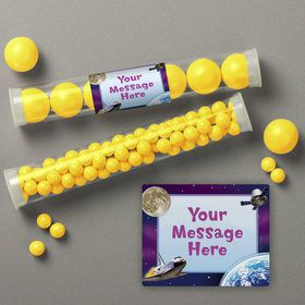 Outer Space Personalized Candy Tubes (12 Count)