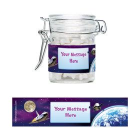 Outer Space Personalized Glass Apothecary Jars (12 Count)