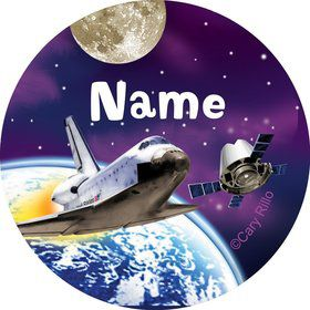 Outer Space Personalized Mini Stickers (Sheet of 24)
