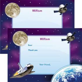 Outer Space Personalized Thank You Note (each)