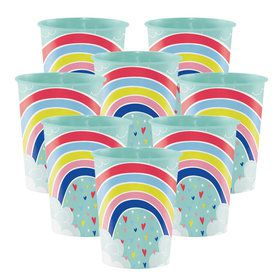 Over the Rainbow 16oz Plastic Favor Cups (8 Count)