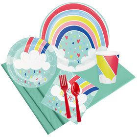 Over the Rainbow Happy Birthday Party Pack (8 Count)