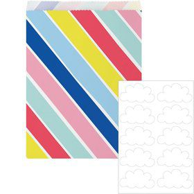 Over the Rainbow Paper Treat Bags (10)