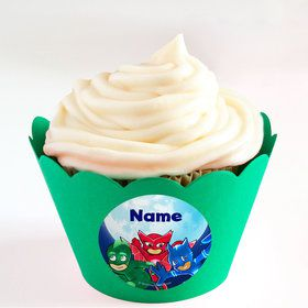 Pajama Heroes Personalized Cupcake Wrappers (Set of 24)
