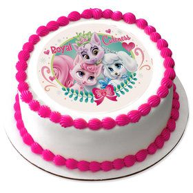 """Palace Pets Royal Cuteness 7.5"""" Round Edible Cake Topper (Each)"""