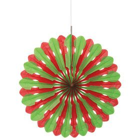 Paper Fan - Red & Green