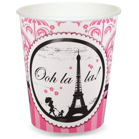Paris Damask 9 oz. Paper Cups (8)