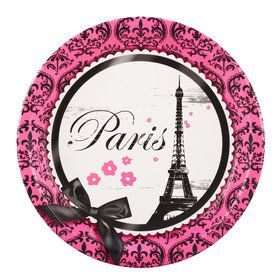 Paris Damask Dinner Plates (8)