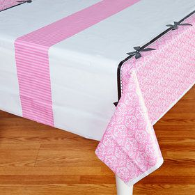 Paris Damask Plastic Tablecover