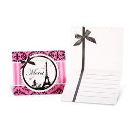 Paris Damask Thank-You Notes (8)