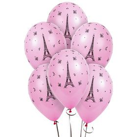 Paris Eiffel Tower Latex Balloons