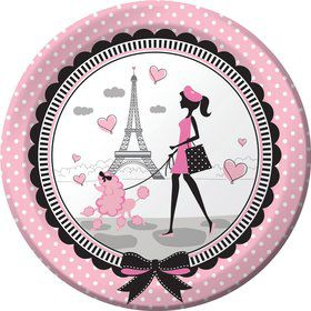 "Paris Party 9"" Luncheon Plates (8 Pack)"